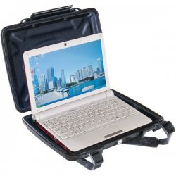 "Pelican - 1070-003-110 - Pelican HardBack 1075CC Carrying Case for Notebook - Black - Dust Proof, Chemical Resistant, Corrosion Proof, Crush Proof - Shoulder Strap - 12.4"" Height x 9.8"" Width x 2.1"" Depth"