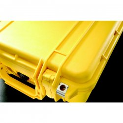 "Pelican - 1170-000-240 - Pelican 1170 Carrying Case for Handheld PC - Yellow - Crush Proof, Dust Proof - Stainless Steel, Copolymer - Handle - 8.3"" Height x 11.6"" Width x 3.8"" Depth"