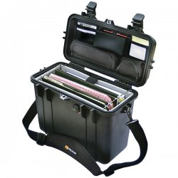 "Pelican - 1430-005-110 - Pelican 1430 Top Loader Case with Office Divider Set - Internal Dimensions: 13.56"" Length x 5.76"" Width x 11.70"" Depth - External Dimensions: 16.9"" Length x 9.6"" Width x 13.4"" Depth - 3.96 gal - Double Throw Latch, Flip Top"