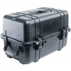 "Pelican - 1460-000-110 - Pelican 1460 Shipping Case with Foam - Internal Dimensions: 18.54"" Length x 9.92"" Width x 10.92"" Depth - External Dimensions: 20.9"" Length x 12.7"" Width x 12.8"" Depth - 8.68 gal - Double Throw Latch Closure - Copolymer - Black -"