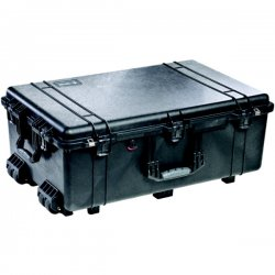"Pelican - 1650-020-110 - Pelican 1650 Shipping Case with Foam - Internal Dimensions: 28.57"" Width x 17.52"" Depth x 10.65"" Height - External Dimensions: 31.6"" Width x 20.5"" Depth x 12.5"" Height - Double Throw Latch Closure - Copolymer - Black - For"