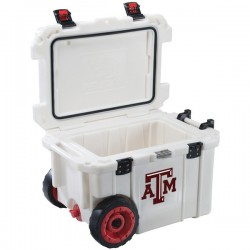 Pelican - CC-19322-45QWT - Pelican(TM) CC-19322-45QWT 45-Quart Texas A&M University Aggies(R) Elite Wheeled Cooler
