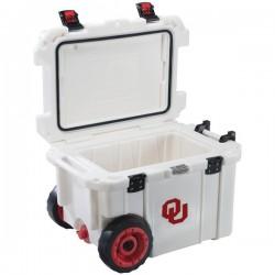 Pelican - CC-19333-45QWT - Pelican(TM) CC-19333-45QWT 45-Quart University of Oklahoma Sooners(R) Elite Wheeled Cooler