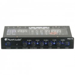 Planet Audio - PEQ15 - Planet Audio PEQ15 5 Band Pre-Amp Equalizer with Remote Subwoofer Level Control - 1 Year Warranty