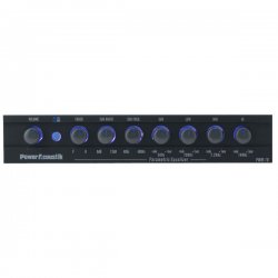 Power Acoustik - PWM-16 - Power Acoustik PWM-16 Car Equalizer - Parametric - Fader - 4 Band - LED - Half DIN - 10 Hz to 50 kHz - 80 dB SNR
