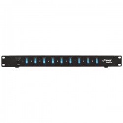 Pyle / Pyle-Pro - PDBC70 - PylePro 15 Amp Power Supply Power Strip with 1800VA Rack Mountable 9 Outlets - AC Power - 9 x AC Power - 120 V AC, 230 V AC - 1800 W - 1U - Rack Mount