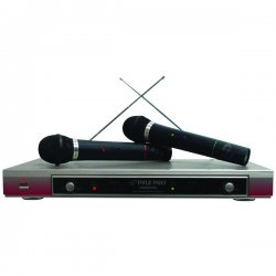 Pyle / Pyle-Pro - PDMW-2000 - Pyle PDWM2000 Wireless Microphone System - 160 MHz to 250 MHz Operating Frequency - 40 Hz to 15 kHz Frequency Response - 98.43 ft Operating Range
