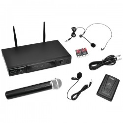 Pyle / Pyle-Pro - PDWM2115 - PylePro PDWM2115 Wireless Microphone System - 170 MHz to 260 MHz Operating Frequency - 50 Hz to 15 kHz Frequency Response - 164.04 ft Operating Range