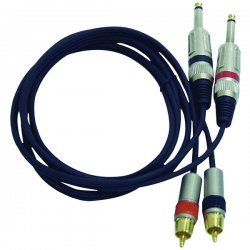 Pyle / Pyle-Pro - PPRC-J05 - Pyle Dual Professional Audio Link Cable - Phono Male - RCA Male - 5ft