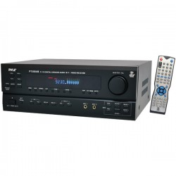 Pyle / Pyle-Pro - PT588AB - PyleHome PT588AB 3D A/V Receiver - 5.1 Channel - Black - Internet Streaming - 350 W - AM, FM - HDMI - 4 x HDMI In - 1 x HDMI Out