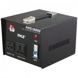 Pyle / Pyle-Pro - PVTC1000U - Pyle PVTC1000U Step Up/Down Transformer - 1000 VA - 120 V AC, 230 V AC Input - 120 V AC, 240 V AC, 5 V DC Output