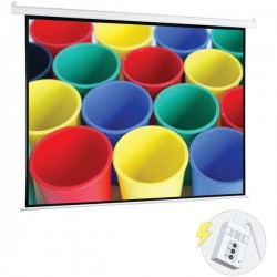Pyle / Pyle-Pro - PRJELMT76 - Pyle Prjelmt76 White 72 Inch Motorized Projector Screen