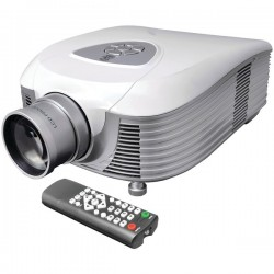 Pyle / Pyle-Pro - PRJLE55 - Pyle PRJLE55 3D LCD Projector - 480p - EDTV - 16:10 - LED - SECAM, NTSC, PAL - 800 x 480 - WVGA - 800:1 - 1800 lm - HDMI - VGA In - White Color - 1 Year Warranty