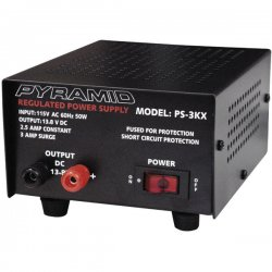 Pyramid Car Audio - PS3 - PYRAMID PS3 AC Power Supply - 50W