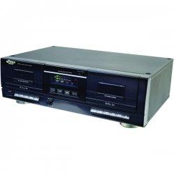 Pyle / Pyle-Pro - PT659DU - Pyle PT659DU Dual Cassette Deck - 2 x Cassette Capacity - Auto-stop