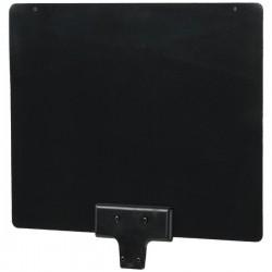 QFX - ANT-15 - QFX HD/DTV Ultra Thin Black/White Antenna - Range - VHF, UHF - 201 MHz to 850 MHz - 5 dB - HDTV Antenna, Television - Black/White