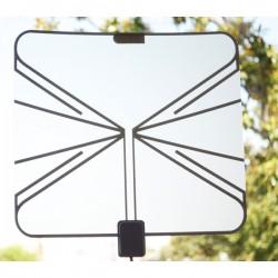 QFX - ANT-17 - QFX HD/DTV Ultra Thin Transparent Antenna - Range - VHF, UHF, FM - 47 MHz to 862 MHz - 5 dB - HDTV Antenna