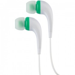 RCA - HP161GR - Rca Hp161gr Green Earbuds In Ear Noise Isolating Flat Cable