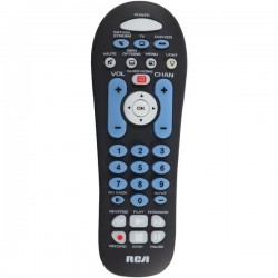 RCA - RCR313BR - RCA(R) RCR313BR 3-Device Big-Button Universal Remote with Streaming & Dual Navigation (Black)