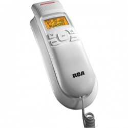 RCA - 1122-1WTGA - Legend Series Amplified Slim-Line Corded Phone with Caller ID, White