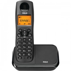 RCA - 2161-1BKGA - Element Series DECT 6.0 Cordless Phone with Caller ID 1-Handset System, Black