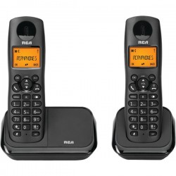 RCA - 2161-2BKGA - Element Series DECT 6.0 Cordless Phone with Caller ID 2-Handset System, Black
