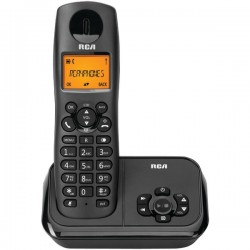 RCA - 2162-1BKGA - Element Series DECT 6.0 Cordless Phone with Caller ID and Digital Answering System 1-Handset System, Black