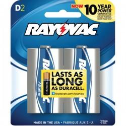 Rayovac - 813-2F - Rayovac(R) 813-2F Alkaline Batteries (D; 2 pk)