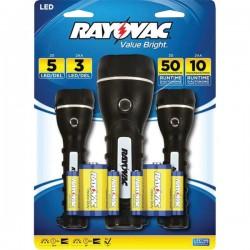 Rayovac - Brsled3pk-b - Rayovac Brsled3pk-b Led Flashlight Kit