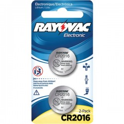 Rayovac - KECR2016-2A - Rayovac(R) KECR2016-2A 3-Volt Lithium Keyless Entry Battery (2 pk; CR2016 Size)
