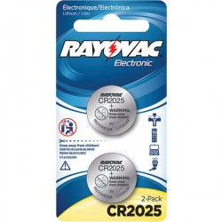 Rayovac - KECR2025-2A - Rayovac(R) KECR2025-2A 3-Volt Lithium Keyless Entry Battery (2 pk; CR2025 Size)