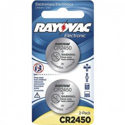 Rayovac - KECR2450-2A - Rayovac(R) KECR2450-2A 3-Volt Lithium Keyless Entry Battery (2 pk; CR2450 Size)
