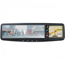 RoadGear Mobile - RN03 - RoadGear RN03 RN03 3.5 Mirror Monitor with Touchscreen GPS Navigation & Bluetooth(R)