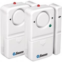 Swann - SW351-MD2 - Swann Magnetic Window/Door Alarm - 6 V DC - 110 dB - Audible