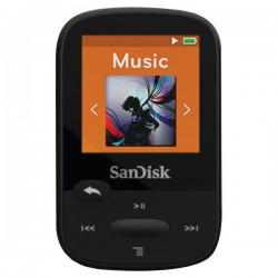 SanDisk - SDMX24-008G-A46K - SanDisk Clip Sport SDMX24-008G 8 GB Flash MP3 Player - Black - FM Tuner - 1.4 - microSDHC - MP3, AAC, Audible, FLAC, Ogg Vorbis, WAV, WMA - 25 Hour