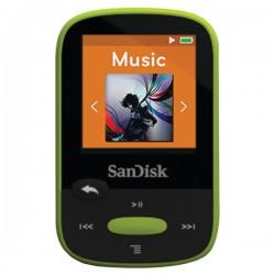 SanDisk - SDMX24-008G-A46L - SanDisk Clip Sport SDMX24-008G 8 GB Flash MP3 Player - Lime - FM Tuner - 1.4 - microSDHC - MP3, AAC, Audible, FLAC, Ogg Vorbis, WAV, WMA - 25 Hour