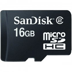 SanDisk - SDSDQ-016G-A11M - SanDisk 16GB microSD High Capacity (microSDHC) Card - 16 GB