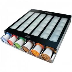 Solofill - MYSOLOPAD - Solofill MySoloPad Automatic Coffee Pod Dispenser - Vertical, Horizontal - 2.5 x 13.8 x 15.3 - Plastic, Glass - Black