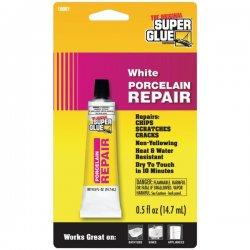 Super Glue - 19061 - Super Glue Porcelain Repair - White