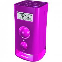 Sangean - K-200 PINK - Sangean K-200 Desktop Clock Radio - 3 W RMS - 2 x Alarm - FM, AM