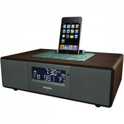 Sangean - WR-5 - Sangean WR-5 Desktop Clock Radio - 5 W RMS - Stereo - Apple Dock Interface - 2 x Alarm - FM, AM