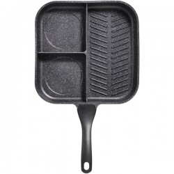 Starfrit - 030326-004-0000 - THE ROCK(TM) by Starfrit(R) 030326-004-0000 THE ROCK(TM) by Starfrit(R) 11 3-in-1 Breakfast Pan with Bakelite(R) Handle