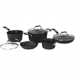 Starfrit - 030930-001-0000 - THE ROCK(TM) by Starfrit(R) 030930-001-0000 THE ROCK(TM) by Starfrit 8-Piece Cookware Set with Bakelite(R) Handles