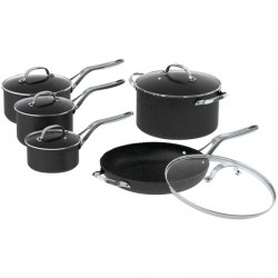 Starfrit - 060319-001-0000 - THE ROCK(TM) by Starfrit(R) 060319-001-0000 THE ROCK(TM) by Starfrit 10-Piece Cookware Set with Stainless Steel Handles