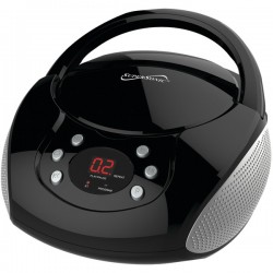 Supersonic - SC-515BT-BLK - Supersonic SC-515BT-BLK Bluetooth(R) Portable Audio System with CD Player (Black)