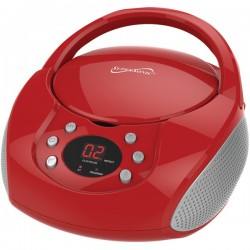 Supersonic - SC-515BT-RED - Supersonic SC-515BT-RED Bluetooth(R) Portable Audio System with CD Player (Red)