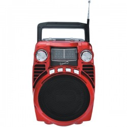 Supersonic - SC-1390-RD - Supersonic sc-1390-RD Bluetooth(R) Portable 4-Band Radio (Red)