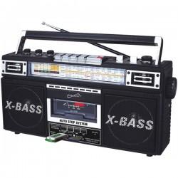 Supersonic - SC-3200 BLACK - Supersonic(R) SC-3200 BLACK Retro 4-Band Radio & Cassette Player (Black)