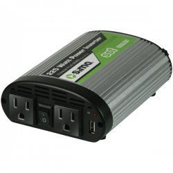 Sima Products - STP-225 - Sima STP-225 DC-to-AC Power Inverter - Input Voltage: 12 V DC - Continuous Power: 225 W