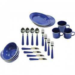 Stansport - 11220 - Stansport(TM) 11220 Enamel Camping 24-Piece Tableware Set